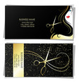 business card beauty salon scissors hairstyle vector image vector image