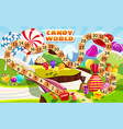 candy board game for children and kids - journey vector image vector image