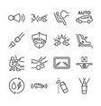 car line icon set vector image vector image