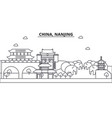 china nanjing architecture line skyline vector image vector image