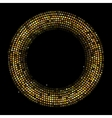 Circle Radius Abstract Golden Background vector image