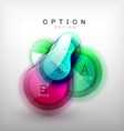 Colorful glossy bubble infographics vector image vector image