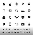 Communication icons on white background vector image vector image