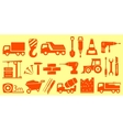 construction set yellow objects vector image vector image