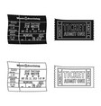 design of ticket and admission sign set of vector image