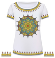 Design T-Shirts Print a fashionable ornament for w vector image vector image