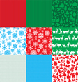 different set of christmas backgrounds vector image vector image