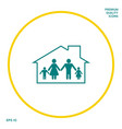 family home icon graphic elements for your design vector image