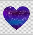 fantastic galaxy heart isolated on transparent vector image