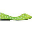 Flat shoes vector image vector image