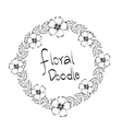 Floral design Doodle white vector image vector image