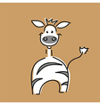 funny zebra card vector image vector image