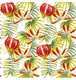 gloriosa painting seamless pattern white vector image vector image