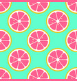 grapefruit slices seamless pattern flat food vector image vector image
