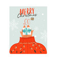hand drawn abstract merry christmas time vector image vector image