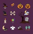 happy halloween trick or treat celebration vector image vector image