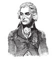 horatio nelson vintage vector image vector image