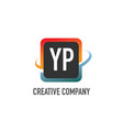 initial letter yp swoosh creative design logo vector image vector image