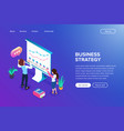 isometric grown or business strategy concept vector image vector image