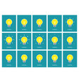 light bulb shining animation sprite sheet flat vector image vector image