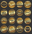 luxury quality golden badge retro collection 3 vector image vector image