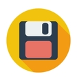 Magnetic floppy disc icon vector image
