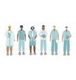 medical doctor or nurse character set vector image