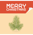 Merry Christmas Template with Branch vector image