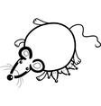 mouse mother with babies for coloring vector image vector image