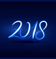 neon style 2018 new year lettering design vector image