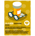 old age color poster vector image vector image