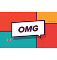 omg in design banner template for web vector image