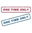 One Time Only Rubber Stamps vector image vector image