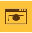 Online education icon design education vector image vector image