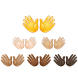 open hands sign emoji vector image vector image