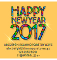 Patched shining Happy New Year 2017 greeting card vector image vector image