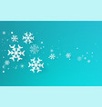 realistic snowflakes vector image vector image