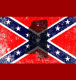 rebel civil war flag with mississippi map vector image vector image
