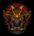 samurai robot head vector image vector image