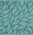 seamless leaves green pattern nature vector image
