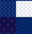 seamless marine pattern with ship vector image vector image