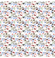Seamless pattern heart doodles background vector image