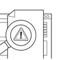 security system cartoon vector image vector image