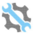 service tools halftone icon vector image vector image