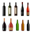 set different bottles vector image vector image