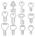 set of key vector image