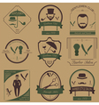 Set of vintage barber hairstyle and gentlemen club vector image vector image