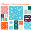 set seamless christmas patterns vector image
