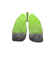 smoking human lungs vector image vector image