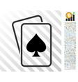 spade gambling cards flat icon with bonus vector image vector image